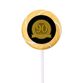 Milestones Personalized Small Swirly Pop 90th Birthday Favors (24 Pack)