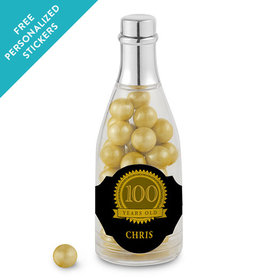 Milestones Personalized Champagne Bottle 100th Birthday Favors (25 Pack)