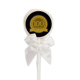 Milestones Personalized Lollipop 100th Birthday Favors (24 Pack)