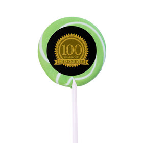 Milestones Personalized Small Swirly Pop 100th Birthday Favors (24 Pack)