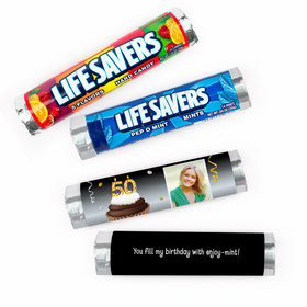 Personalized Milestone Birthday Cupcake Lifesavers Rolls (20 Rolls)