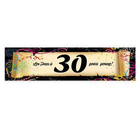 Personalized Birthday Confetti 30th 5 Ft. Banner