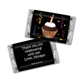 Birthday Personalized Hershey's Miniatures Wrappers Cupcake 1st