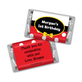 Birthday Personalized Hershey's Miniatures Wrappers Mickey Mouse