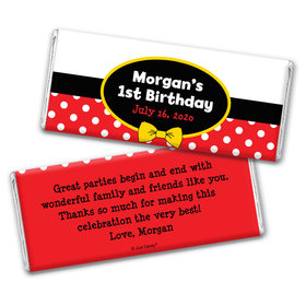 Birthday Personalized Chocolate Bar Wrappers Mickey Mouse
