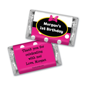 Birthday Personalized Hershey's Miniatures Wrappers Minnie Mouse Theme