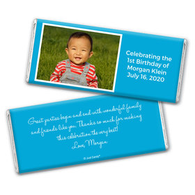Birthday Personalized Chocolate Bar Wrappers Photo & Message