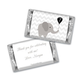 Birthday Personalized Hershey's Miniatures Chevron Dots Elephant