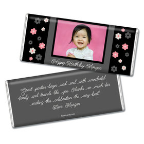 Birthday Personalized Chocolate Bar Flowers & Photo