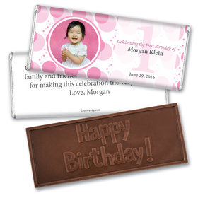 Personalized Birthday Embossed Happy birthday Chocolate Bar Monogram Circle Photo