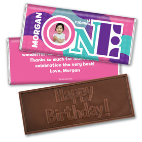 Personalized Birthday Embossed Happy birthday Chocolate Bar 1st Birthday Photo