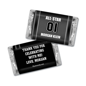 Birthday Personalized Hershey's Miniatures Wrappers Sports Jersey Number