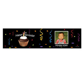 Personalized Birthday Cupcake Photo 5 Ft. Banner