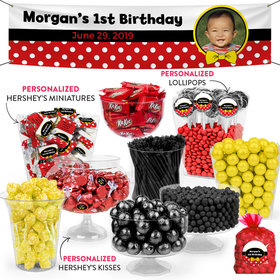 Personalized 1st Birthday Mickey Themed Deluxe Candy Buffet
