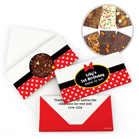 Personalized Birthday Minnie Themed Gourmet Infused Belgian Chocolate Bars (3.5oz)