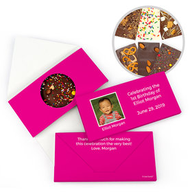 Personalized Birthday Photo & Message Gourmet Infused Belgian Chocolate Bars (3.5oz)