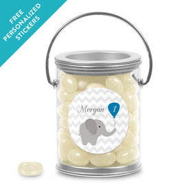 Birthday Personalized Paint Can Chevron Dots Elephant (25 Pack)