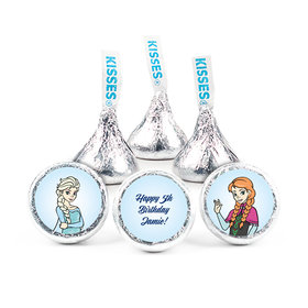 "Birthday 3/4"" Sticker Disney Style Frozen Theme (108 Stickers)"