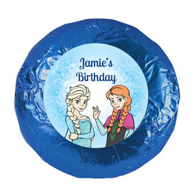 "Birthday 1.25"" Sticker Disney Style Frozen Theme (48 Stickers)"