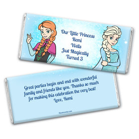 Birthday Personalized Chocolate Bar Wrappers Disney Style Frozen Theme