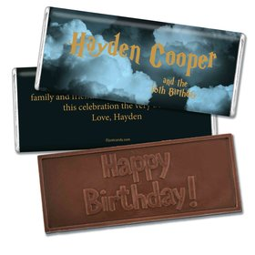 Birthday Personalized Embossed Chocolate Bar Harry Potter Wizzardly Wishes
