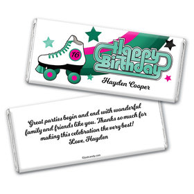 Birthday Personalized Chocolate Bar Wrappers Skate Party