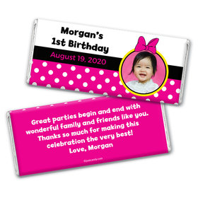 Birthday Personalized Chocolate Bar Wrappers Minnie Mouse Photo