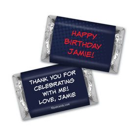 Birthday Personalized Hershey's Miniatures Wrappers Superheroes