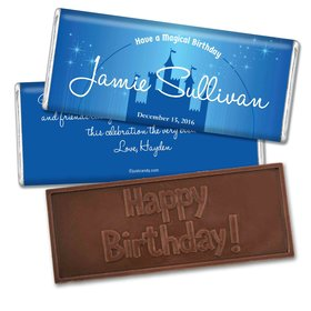 Birthday Personalized Embossed Chocolate Bar Disney Magic Kingdom Inspired