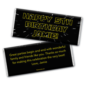 Birthday Personalized Chocolate Bar Wrappers Star Wars Type Jedi Theme