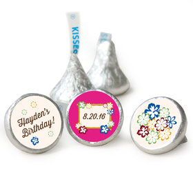 Birthday Personalized Hershey's Kisses Tropical Hawaiian Luau Party Assembled Kisses (50 Pack)