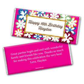Birthday Personalized Chocolate Bar Wrappers Tropical Hawaiian Luau Party