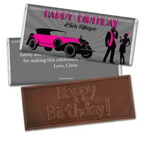 Birthday Personalized Embossed Chocolate Bar 1920s Gatsby
