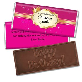 Birthday Personalized Embossed Chocolate Bar Storybook Princess