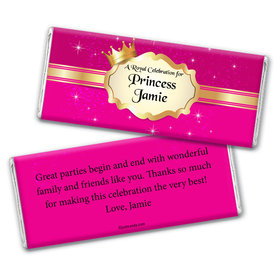Birthday Personalized Chocolate Bar Wrappers Storybook Princess