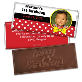 Birthday Personalized Embossed Chocolate Bar Mickey Mouse Photo