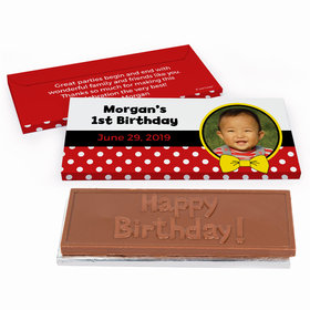 Deluxe Personalized Birthday Mickey Chocolate Bar in Gift Box