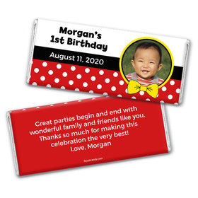 Birthday Personalized Chocolate Bar Wrappers Mickey Mouse Photo