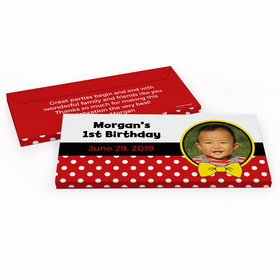 Deluxe Personalized Birthday Mickey Hershey's Chocolate Bar in Gift Box