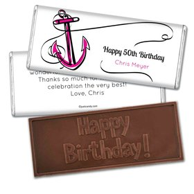 Birthday Personalized Embossed Chocolate Bar Anchor