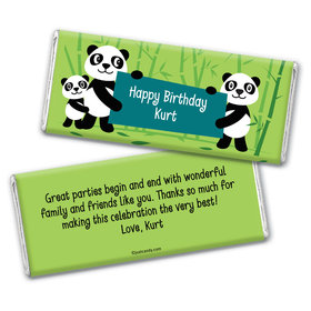 Birthday Personalized Chocolate Bar Wrappers Panda