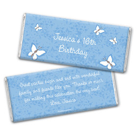 Birthday Personalized Chocolate Bar Wrappers Butterfly Garden