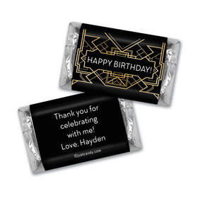 Birthday Personalized Hershey's Miniatures Art Deco 1920s Gatsby