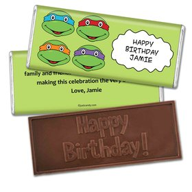 Birthday Personalized Embossed Chocolate Bar TMNT Cowabunga Turles