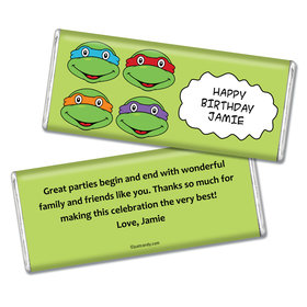Birthday Personalized Chocolate Bar TMNT Cowabunga Turles