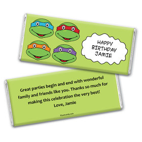 Birthday Personalized Chocolate Bar Wrappers TMNT Cowabunga Turles