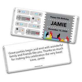 Birthday Personalized Chocolate Bar Wrappers Video Gamer