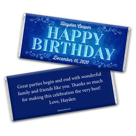 Birthday Personalized Chocolate Bar Wrappers Frozen Scroll Princess