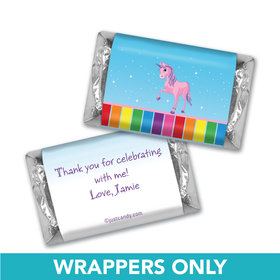 Birthday Personalized Hershey's Miniatures Wrappers My Little Rainbow Unicorn