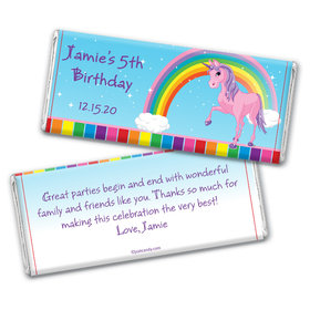 Birthday Personalized Chocolate Bar Wrappers My Little Rainbow Unicorn